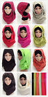 New Solid Color Twill Cotton Comfortable Big Size Muslim Long Scarf Hijab