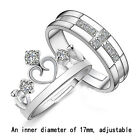 Hot Silver plated Prince & Princess Imperial Crown Adjustable Rings Gift