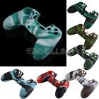 Soft Camouflage Silicone Rubber Case Skin Cover Protector for PS4 Controller New