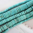 "Natural Turquoise Gemstone Heishi Beads Spacer 16"" 3mm 4mm 6mm 8mm 10mm 12mm"