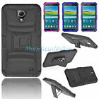 Rugged Hybrid Hard Cover Case+Belt Clip Holster Stand For Samsung Galaxy Mega 2