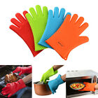 Heat Resistant Silicone Gloves Potholder Oven Grill Mitts Insulated Waterproof