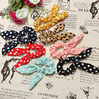 10 Colors Casual Lady Scrunchie Ponytail Holder Satin Ribbon Bow Hair Band Rope