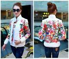 Factory Price Winter Warm Slim Down Coat Jacket Overcoat Parka Floral Pattern