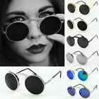 Vintage Women Men Unisex Gothic Round Flip Up UV400 CIRCLE Sunglasses Glasses