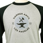Men's Baseball T-Shirt Sports Tee 3/4 Sleeve Raglan Jersey Shirt by Hammer Anvil