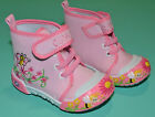 NEW Girl Butterfly flower Canvas Boots Shoes Pink Toddler Size US 2,3,4,5,6,7