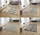 Alpha Hand Knotted 100% Wool Rug Neutral Textured Large Floor Mat Home Decor