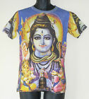 Shiva Retro Style Print Mens Cotton Short Sleeve T-Shirt Small/Medium
