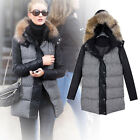 Fashion style womens Down Cotton fur collar Parka winter Jacket Thick coat hoode