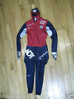 Nike SWIFT Skin Long Track SpeedSkating Suit Red Navy Large Ice Speed Skating