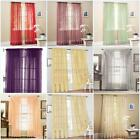 Many Colors Door Window Curtain Drape Panel or Scarf Assorted Scarf Sheer Voile