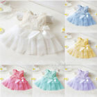 New Kids Fashion Bow Crochet Lace Sleeveless Summer Girls Baby Dress 6-12 Months