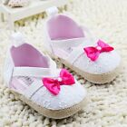 Toddler Baby girl white sandals crib shoes size 0-6 6-12 12-18 Month