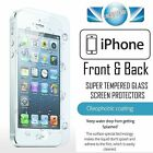 GENUINE TEMPERED FRONT & BACK GLASS SCREEN PROTECTOR FOR APPLE IPHONE MODELS