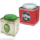 Tea Caddy Typhoo Teabags PG Tips Tea Storage Jar Tin Retro Kitchen Canister