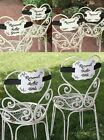 New Reserved Wedding Ceremony Chair Sign Decorations Mother Father Bride Groom