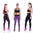 Women Lady Splicing Sports Yoga Stretch Fitness Spandex Slim Long Pant Legging Z