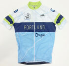 Portland Oregon CYCLING SHORT SLEEVE JERSEY in Light Blue. Made in Italy by GSG