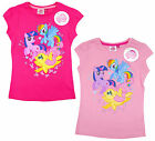 Girls My Little Pony Fluttershy Rainbow Dash Cotton T-Shirt Top 3 to 8 Years NEW