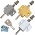 SLIDING PATIO DOOR LOCK + SCREWS Window/French Frame Catch/Latch Security Bolt