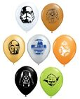"8 x STAR WARS 5"" (Small) Latex Balloons FACES (Party/Birthday/Favour)(Qualatex)"