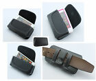 Premium Horizontal Side Leather Belt Clip with Loops Cover Pouch Holster Case