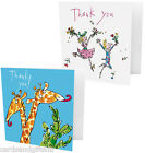 Quentin Blake Thank You Cards Notelets Dancing Giraffe Packs Pks of 10