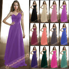 Hot Bridesmaids Dresses Long One-Shoulder Evening Prom Gown Dress Size 6-26