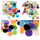 20 Double Sided Round Flat Charms Assorted Enameled Colors 6mm 8mm 12mm 18mm