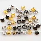 5/6/10/12mm Punk Round Rivet Spike Studs Fit Decorating Leather Spots Craft DIY