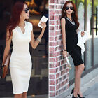 Summer Womens Sleeveless Sequined Bodycon Office Party Mini Dresses Work Wear