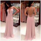 Fashion Women Prom Grow Ball Chiffon Trendy Evening Party Formal Long Dress - LD