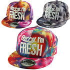K.ICE Headwear - Sorry I'm Fresh Space Galaxy Snapback Flat Peak Snap Back Cap