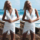 Women Summer Casual Sleeveless Party Evening Mini Dress Beach Dress