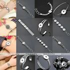 1x Metal Buckle Button Bracelet Bangle Fit Click Snap On Charm Jewelry DIY Gift