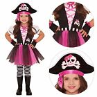 Child Pink Pirate Girl Outfit Fancy Dress Costume Book Week Caribbean Kids Girls