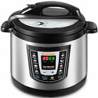 Costway 1000 Watt 6-Quart Electric Pressure Cooker Brushed Stainless Steel New