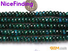5x8mm Rondelle Chrysocolla Dyed Green Jewelry Making Loose Beads Strand 15""