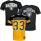 Team Apparel NFL Raiders Staple Bolton Coach Classic Mens T-Shirts Steelers (R)