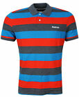 Reebok Mens SEL Stripe Pique Polo Shirt Cotton Slim Fit (Z79813) R