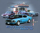 Ford Mustang Gathering of the Herd INDIGO Adult T-shirt