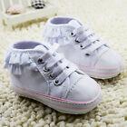 Toddler Baby girl white Sports shoes crib shoes size 0-6 6-12 12-18 Months