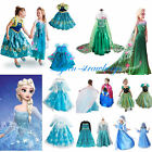 Halloween Kids Girls Costume Cosplay Party Princess Frozen Elsa Anna Fancy Dress