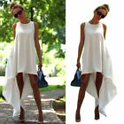 Sexy White Summer Boho Long Maxi Evening Party Dress Beach Dresses Sundress