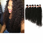 "Unprocessed Remy Human Hair Extensions Curly Wave 3Bundles 16""18""20"" 150g US hOT"