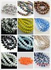 50ps Faceted Glass Crystal Rondelle Loose Beads Necklace&Bracelet Findings 10mm