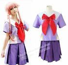 Wholesale Future Diary Mirai nikki 2nd Gasai Yuno Uniform Cosplay Costume Custom