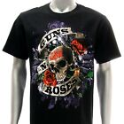 Sz M L XL XXL 2XL Gun n Roses T-shirt Men Slash Rock Punk Reckless Road Gn55