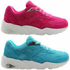 abe36ce4d1d9 Puma R698 Mesh Evolution Womens Mens Blue Purple Trainers 357465 02 01